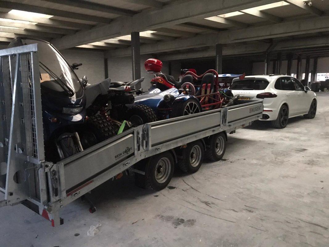 Nugent aanhangwagen kopen afgeleverd aan John Drost